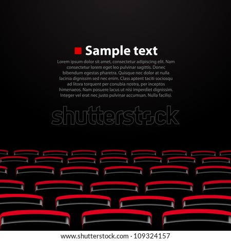 vector cinema auditorium with