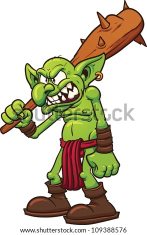 angry cartoon troll vector