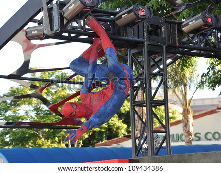 spider man at the world