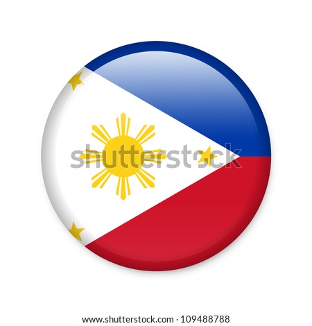 philippines   glossy button