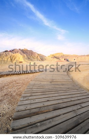 view of xinjiang desert western