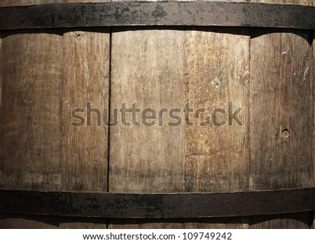 old wine barrel closeup  la