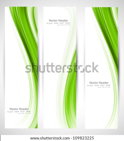 abstract vertical header green