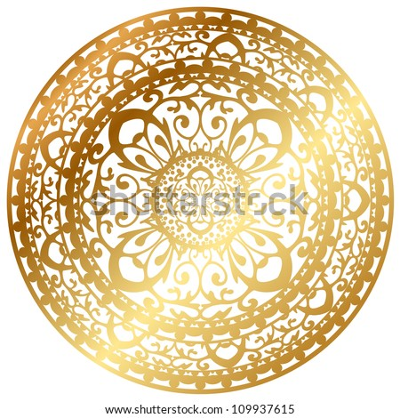 vector illustration of gold