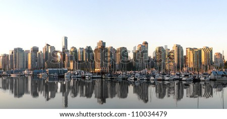 vancouver skyline panorama from