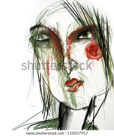 illustration  woman  face