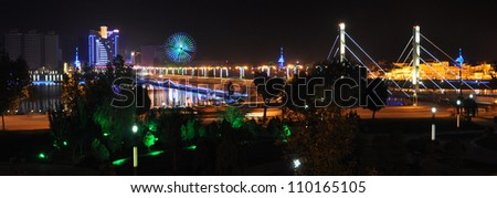 night scenery of kashgar