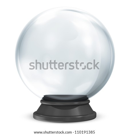 empty crystal ball isolated on