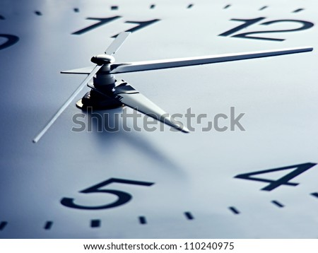clock face with focus on center