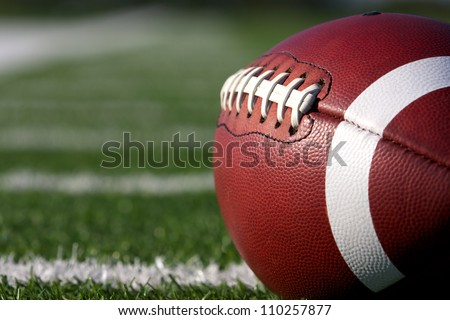 american football close up on
