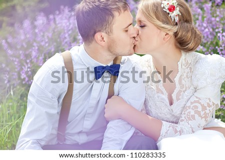 the bride and groom in the