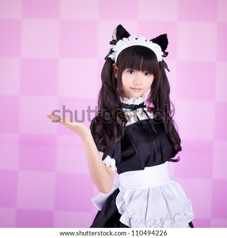 japanese cute lolita maid in