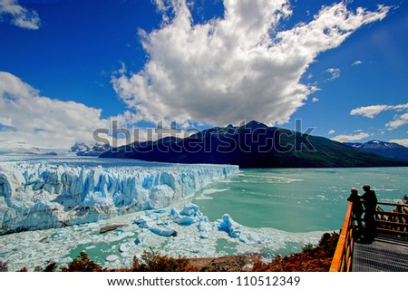 a view on perito moreno
