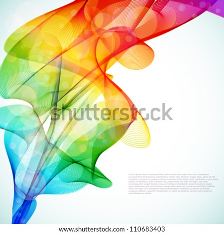 bright abstract colorful vector