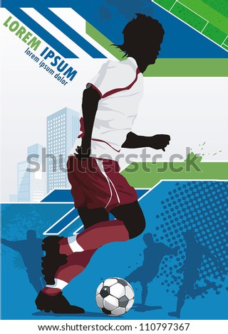 soccer action player on