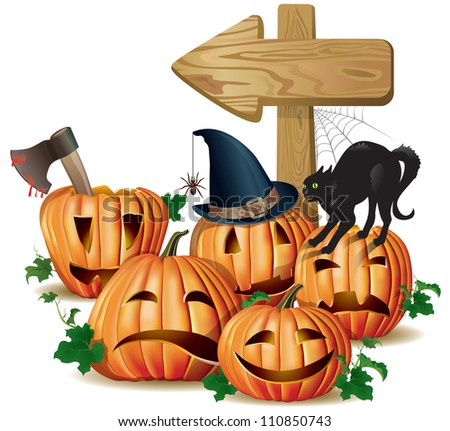 halloween wooden sign board