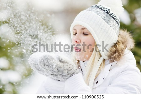 a girl wearing warm winter