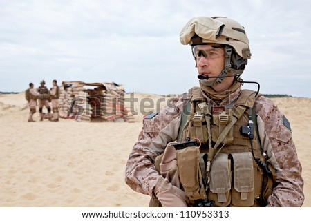 us marines in the desert near