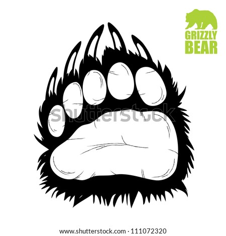 Brown Bear Paw Prints Brown bear paw