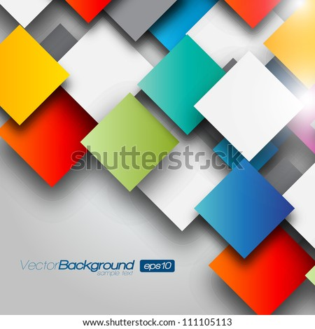 colorful square blank