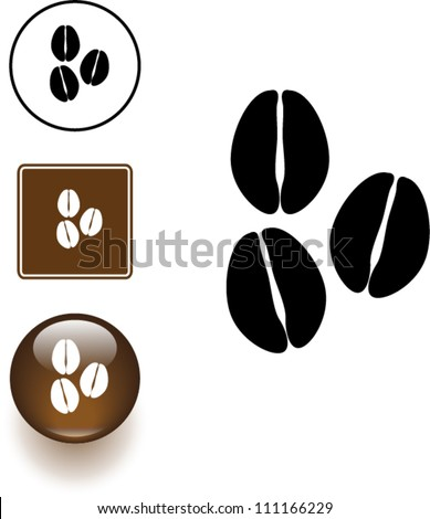 coffee beans symbol sign and