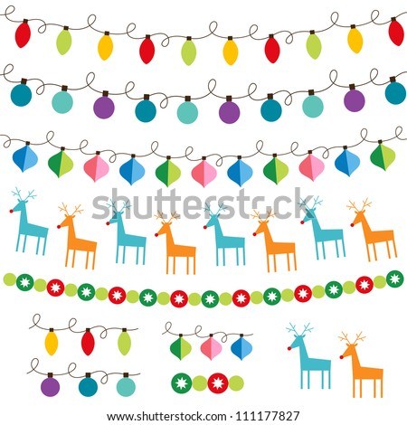 christmas decoration vector set