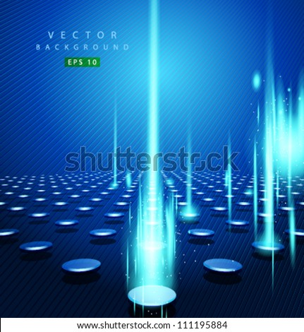 vector blue dot and vertical