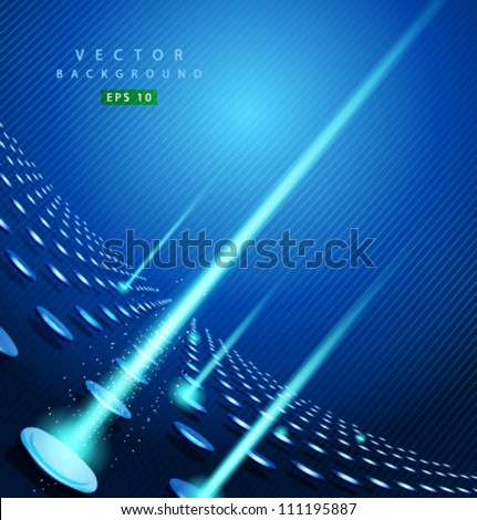 vector blue dot and line