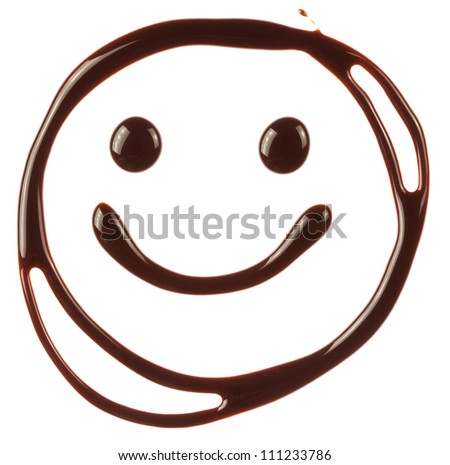 smiley face made of chocolate