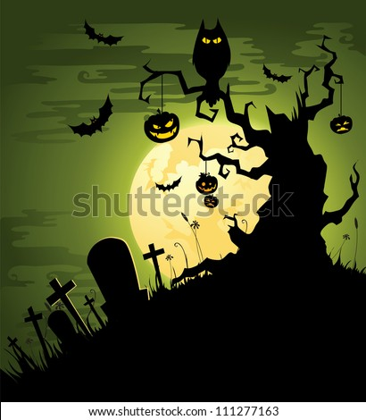 greenish halloween background