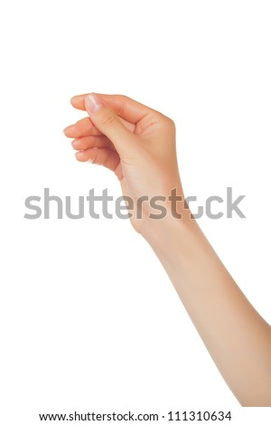 woman hand hold virtual