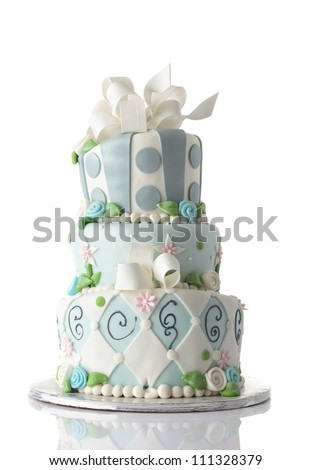 birthday cake isolated on white