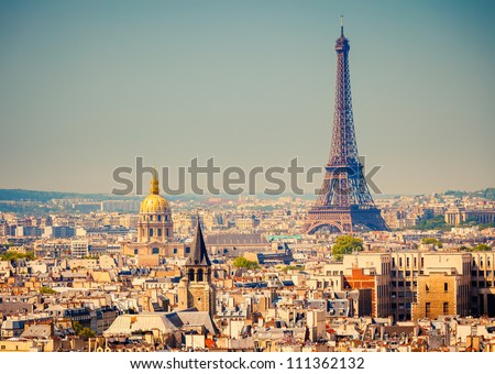 view on eiffel tower  paris