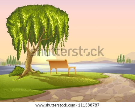 illustration of a park scene