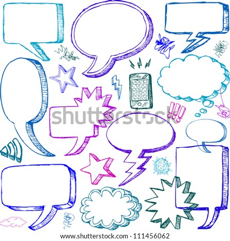 set of hand drawn vector