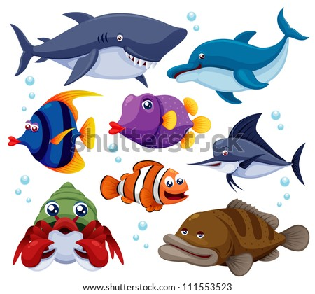 illustration of fish sea vector
