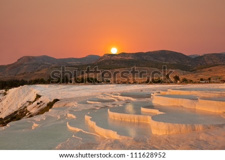 natural travertine pools and