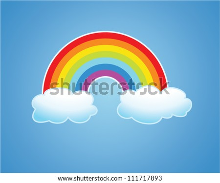 vector symbol of rainbow and