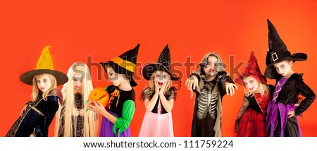 halloween group of children
