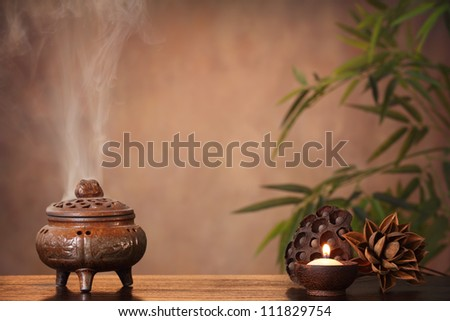 incense burner and aromatic