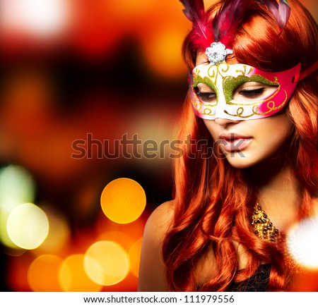 masquerade beautiful girl in a