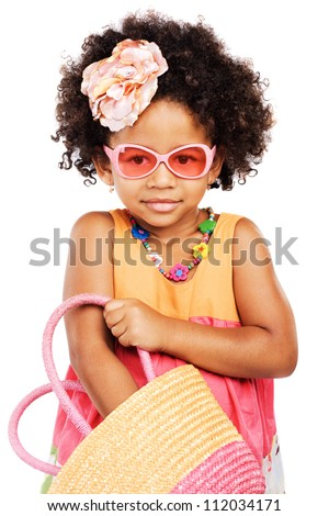 lovely stylish little girl