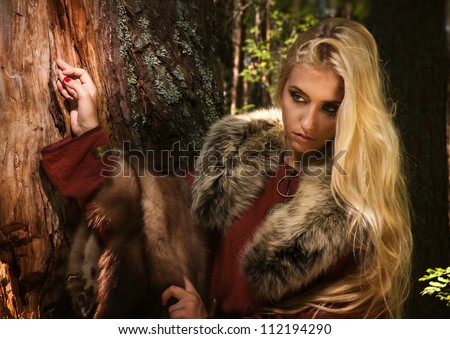 scandinavian girl with runic