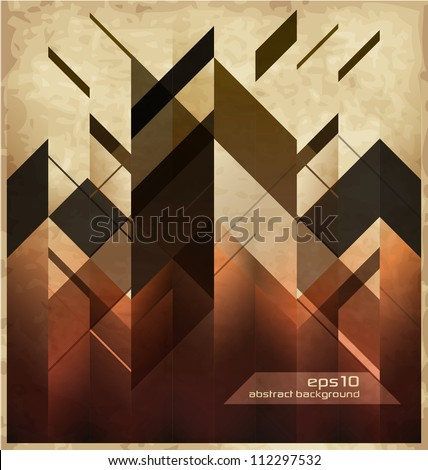 abstract retro background with