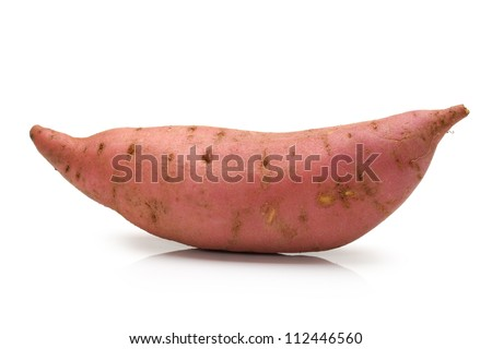 sweet potato on the white