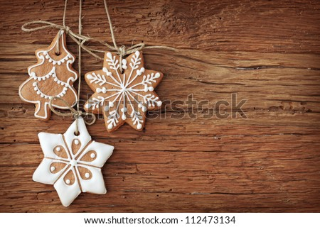 gingerbread cookies hanging