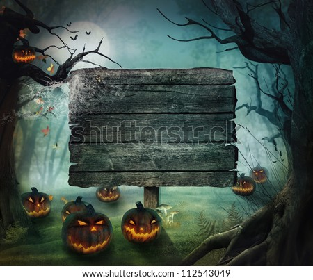 halloween design   forest