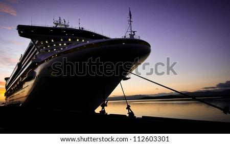 cruise ship docked in ushuaia