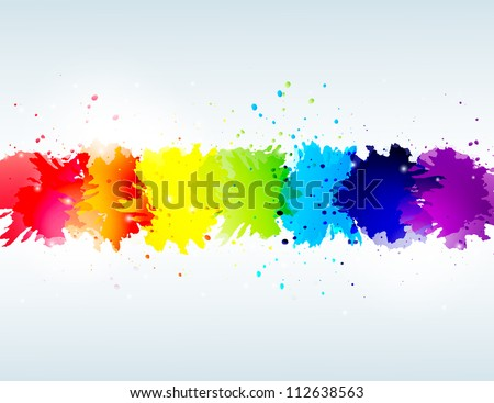 vector rainbow abstract