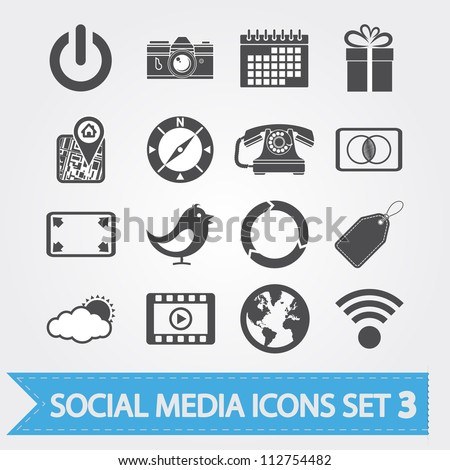 social media related vector